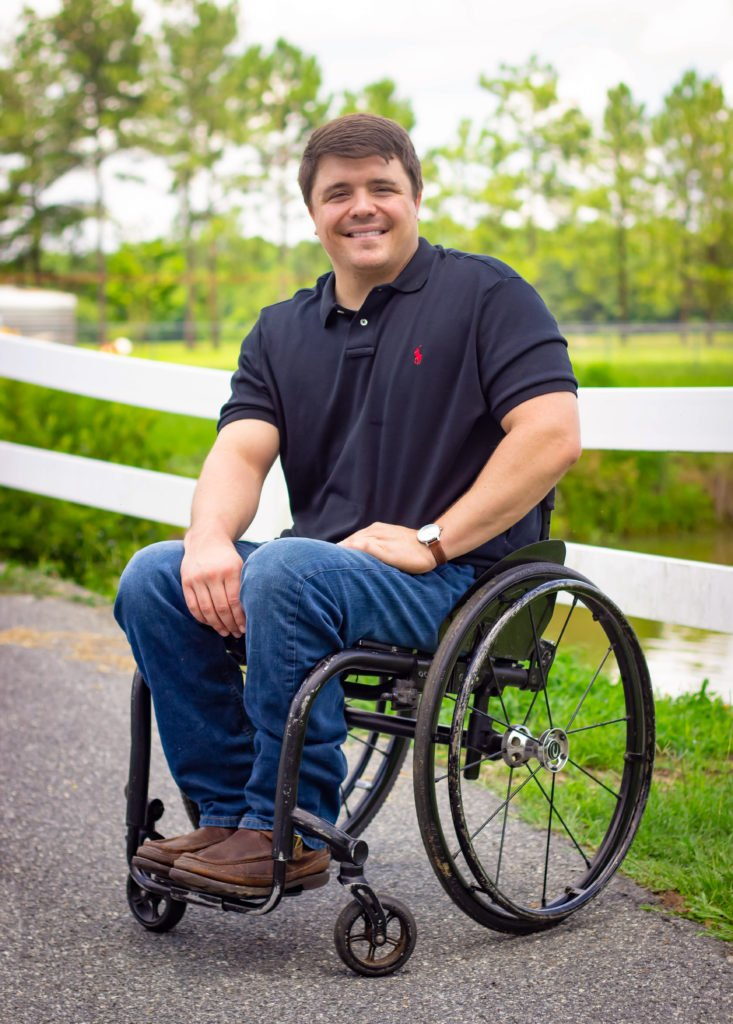 Portrait of a young man in a wheelchair by Atlanta portrait photographer William Twitty.