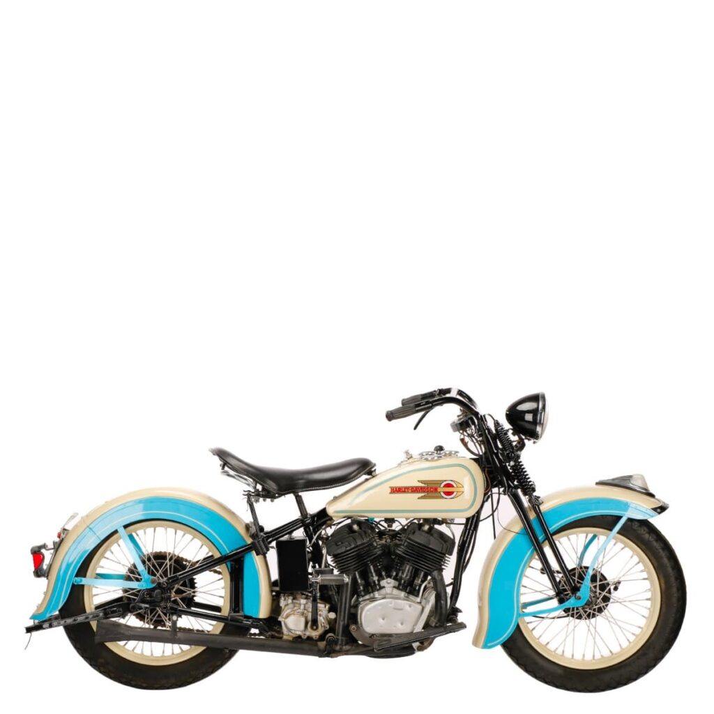 Photo of a 1952 Harley Davidson by Atlanta product photographer William Twitty.