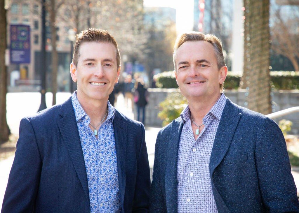 Portrait of two male business partners by Atlanta portrait photographer William Twitty.