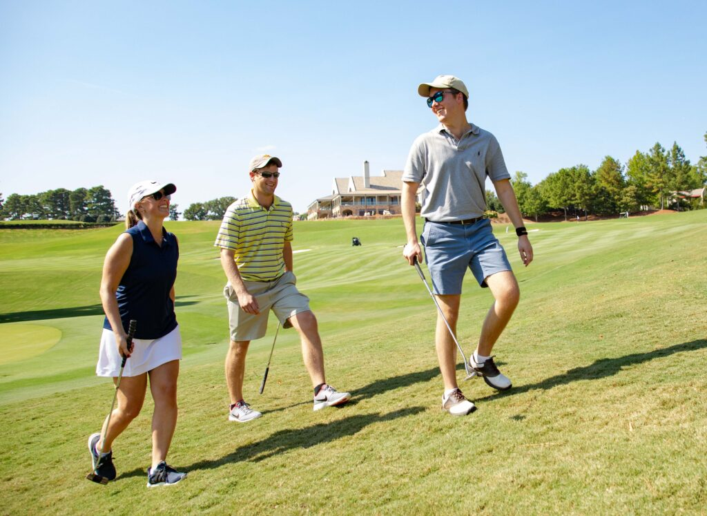 Photo of golfing family enjoying the day by Atlanta event photographer William Twitty.