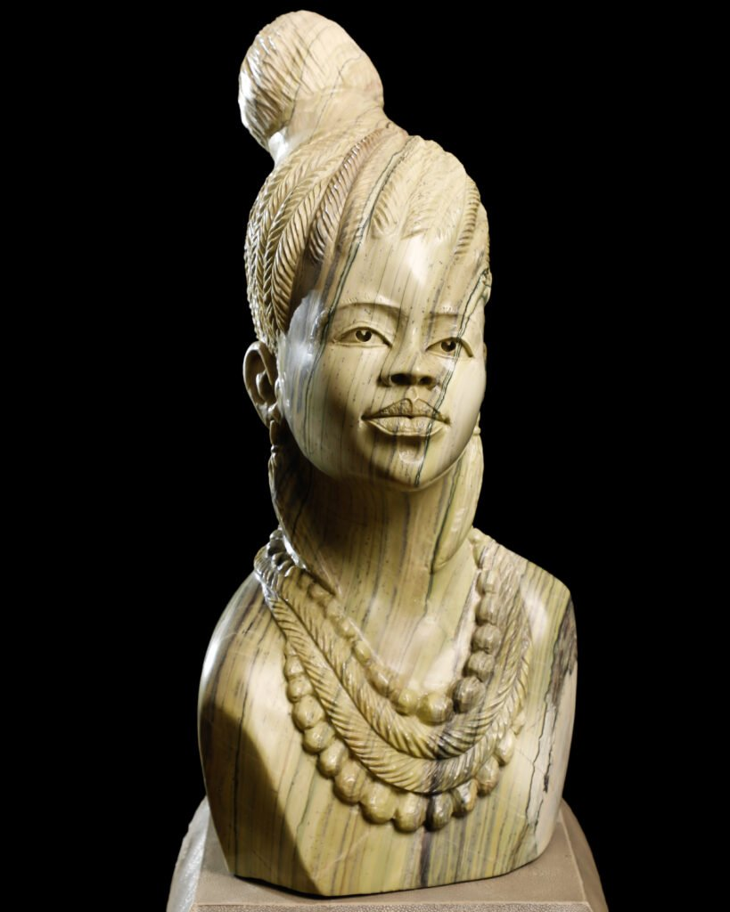Photo of an African female bust by Atlanta product photographer William Twitty.