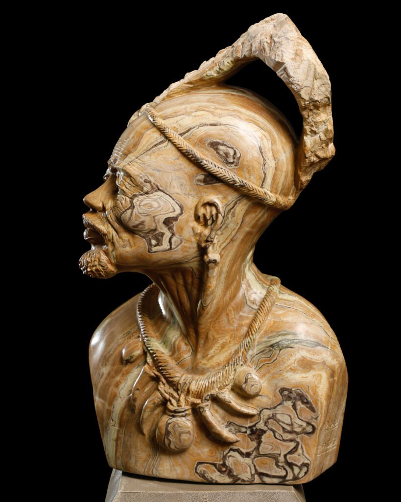 Photo of an African male bust by Atlanta product photographer William Twitty.