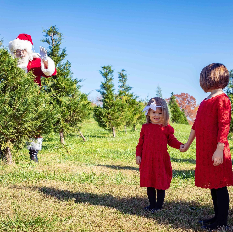 2020 Santa shoot at Coopers Tree Farm