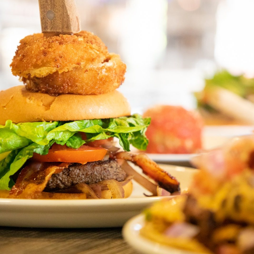 Photo of craft burger by Atlanta food photographer William Twitty.